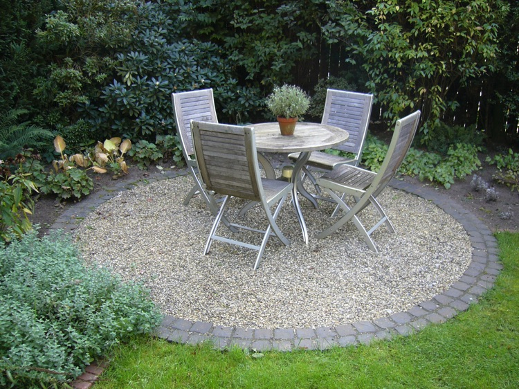 Sitzplatz Garten Kies Home Ideen